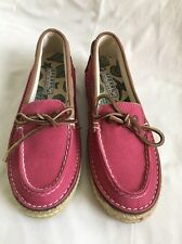 Women's Sperry Top-Sider 9835190 Pink Canvas Boat Shoes Size 6