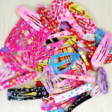 50pcs Assorted Designs Alloy Hair Clip Snaps Accessories for Girls Kids Baby HOT