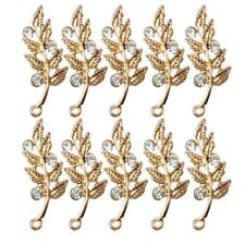 10pcs Rhinestone Flatback Wedding Embellishments Scrapbooking Buttons Gold