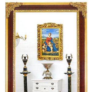 Großer VILLA SPIEGEL braun-gold ca.212x120cm WANDSPIEGEL riesig, XXL-WALL MIRROR