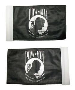 "6""x9"" 6x9 Pow Mia Nylon Boat Motorcycle Car Double Sided Flag Banner Sleeve"