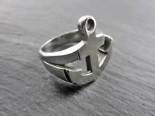 XL anillo de acero inoxidable ancla marine anchor hamburgo waterkant Biker marinero marítimo
