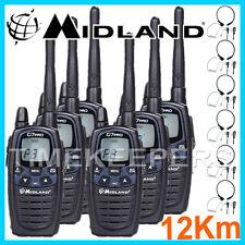 12KM MIDLAND G7 PRO DUAL BAND Walkie Walkie-talkie TWO WAY RADIO Sci & GO PER KARTING 6