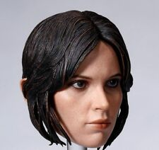 1/6 scale Female Head Sculpt Rogue One Chief Actress Jyn Erso Head Carving