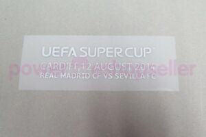 Real Madrid SuperCup 2014 Keeper Iker Casillas Match detail Badge/Patch