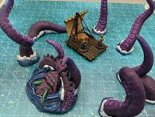 Depths of Savage Atoll Breaching KRAKEN Underwater World DnD Tabletop Terrain