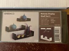Greenco Melody Display Shelf Set 3 Wall Mount Home Decor Espresso