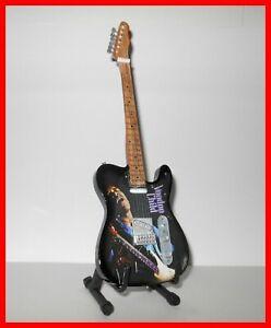 JIMI HENDRIX GUITAR MINIATURE Collector VOODOO CHILD Portrait Rock 70 Telecaster