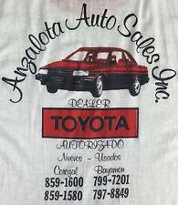Vintage Mens M/L 80s Toyota Tercel Auto Car Sales Dealer Employee Ringer T-Shirt
