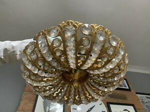 Gorgeous Vintage Swedish Hollywood 24 Carrot Gold Plated  Chandelier