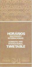 VARIG timetable 1984/FEB