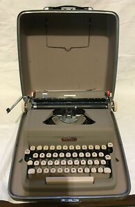 Royal Quiet Deluxe Portable Typewriter With Case