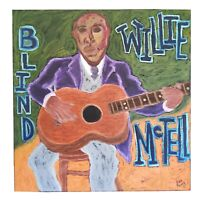 "John Sperry Southern Primitive Musician Folk Art Painting ""Blind Willie McTell"""