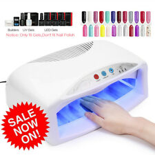 54W Uv Nail Dryer Lamp Quick Drying Nail Gel Polish Timer Setting Xmas Gift