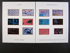 2007 A.R. Penck Modell NR 1-12 paintings NYC exhibition vintage print Ad
