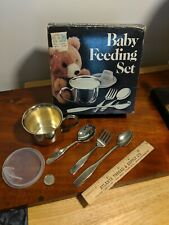 Towle Silver Company Baby Set Leonard Cup Fork 2 Spoons Nice Silverplate