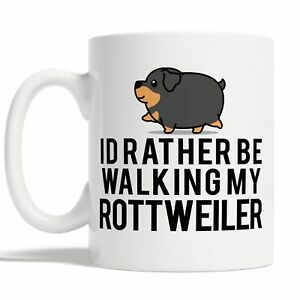 Id Rather Be Walking My Rottweiler Mug Coffee Cup Gift Idea Dog Pet Owners Funny