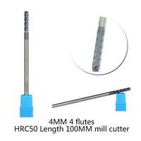 4 Flutes Extra Long Shank Carbide KVS End Mill CNC Cutter Drill Bits Tool HRC45