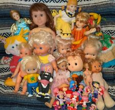 "mixed lot 30 dolls 1"" to 18"" tall jakks pacific hasbro mego ideal kenner remco"