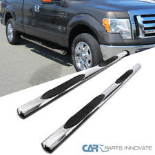 "09-14 Ford F150 SuperCab 4"" Chrome S/S Oval Side Step Nerf Bars Running Boards"