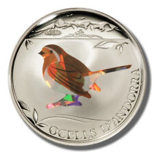 2012 Andorra European Robin 1 Diner Proof Prism coin