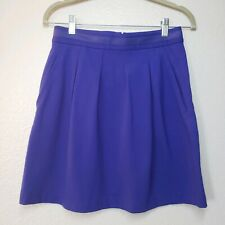 Theory A-line Skirt top Pleat Purple front pockets size 2