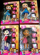 BOXY GIRLS COMPLETE SET OF 4 DOLLS - NOMI, BROOKLYN, WILLA, RILEY w/ BOXES NEW