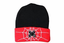 SPIDER  RED BLACK With Brim TOQUE HAT ..FOR KIDS ( 5 - 10 Yrs )..NEW
