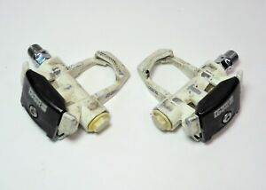 LOOK BLACK & WHITE BICYCLE ALLOY CLIPLESS ROAD PEDALS  9/16 X 20 TPI