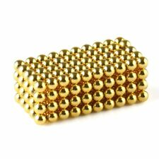 "500 Pcs 3mm/0.12"" Dia N42 Neodymium Sphere Magnets NdFeB Magnetic Gold US Stock"