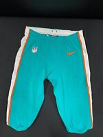 #55 MIAMI DOLPHINS NIKE GAME USED AQUA CURRENT STYLE PANTS JEROME BAKER