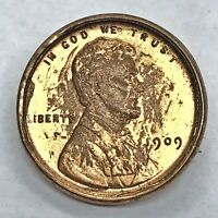 RARE 1909 Lincoln Wheat Cent Penny Copper Project Coin - Pin Jewelry Antique Old
