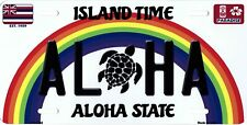 Aloha Turtle Hawaii Metal License Plate
