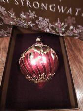 Jay Strongwater - FILIGREE - Swarovski Crystal Jewels -Glass Ornament-New In Box