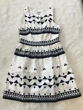 J Crew Button Front Dress In Roller Girl Size 8 Geometric Print