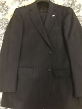 Brooks Brothers Madison Suit 40 Regular Navy Stripe