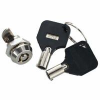 1X(12mm Threaded Keyed Quarter Turn Cam Lock for Der Box Locker N8W4)