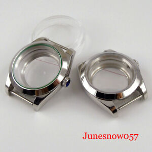 Polished 36mm/39mm Watch Case for NH35A NH36A Seeing Back Screw Crown