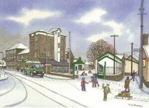 Felinfoel Brewery Llanelli in the snow - Christmas Card - Tony Paultyn