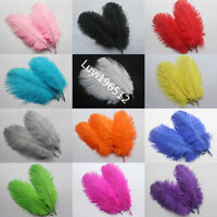 Wholesale 10-1000pcs natural ostrich feathers 8-10inch / 20-25cm