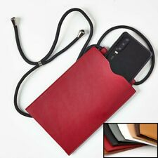 Handy Tasche Hülle mit Kordel zum Umhängen für iPhone Samsung Huawei Xiaomi