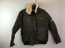Men's Bradford Exchange Leather Aviator Jacket, Size L - Brown