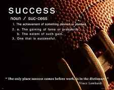 Football Motivational Poster Art Print Success College Classroom Sports MVP523