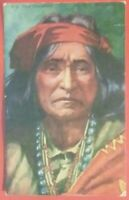 1900's postcard Navajo American Indians Chief Thunderbird