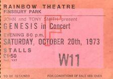 GENESIS-GABRIEL-CONCERT TICKET-RAINBOW THEATRE LONDON-SATURDAY OCTOBER 20th 1973