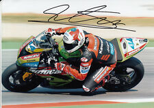 David Salom Hand Signed Kawasaki 7x5 Photo WSBK 2.