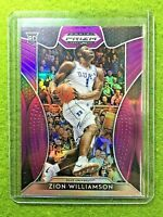 ZION WILLIAMSON PURPLE PRIZM ROOKIE CARD JERSEY#1 DUKE RC 2019 Prizm DP PELICANS