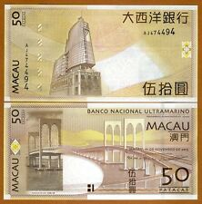 Macao / Macau 50 Patacas, 2013, P-81A-New, BNU, UNC