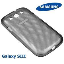 Guscio Silicone Originale Samsung Galaxy S3 SIII Trasparente/Nero Custodia Cover