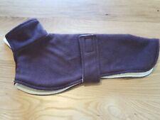Whippet fleece  coat 13inch 33cm brown double layer